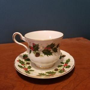 Midcentury Royal Grafton  Noel Cup & Saucer Set